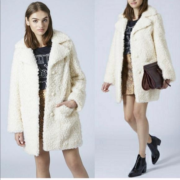 free shipping buy online sports shoes Topshop Jackets & Coats | Faux Fur Teddy Coat | Poshmark